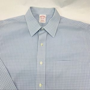 Brooks Brothers Men's Button Front Collard XL Blue